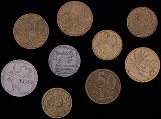 ЮАР. Лот из монет 1990-2010 гг. 9 шт.