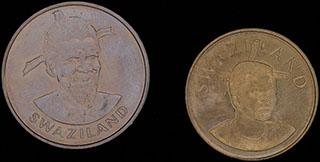 Свазиленд. Лот из монет 1981-2008 гг. 2 шт.