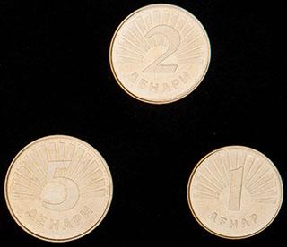 Македония. Лот из монет 2008 г. 3 шт.