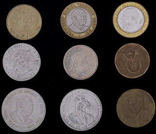 Лот из монет стран Африки 1976-2012 гг. 9 шт.