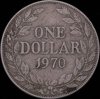 Либерия. 1 доллар 1970 г. Медно-никелевый сплав