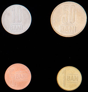 Румыния. Лот из монет 2011-2013 гг. 4 шт.