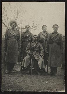 Групповая фотография военных. Почтовая карточка