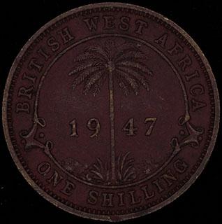Британская Западная Африка. 1 шиллинг 1947 г. KN. Никелевая латунь