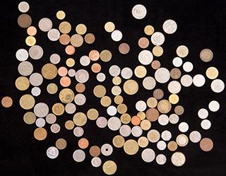 Лот из иностранных монет XX-XXI вв. 125 шт.