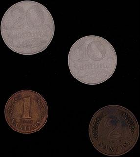 Латвия. Лот из монет 1922-1939 гг. 4 шт.