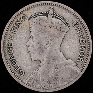 Новая Зеландия. 6 пенсов 1933 г. Серебро