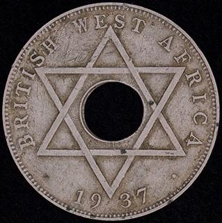 Британская Западная Африка. 1/2 пенни 1937 г. H. Медно-никелевый сплав