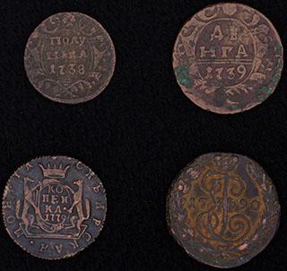 Лот из монет 1738-1790 гг. 4 шт.