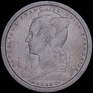 Французский Камерун. 1 франк 1948 г. Алюминий