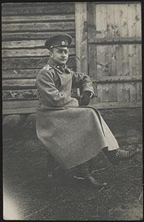 Фотография офицера действующей армии времен Первой Мировой войны. Почтовая карточка