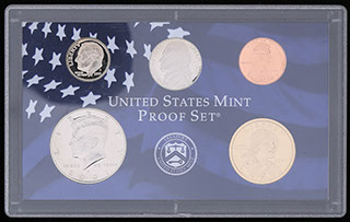 США. Лот из монет 2001 г. 5 шт. В оригинальной упаковке
