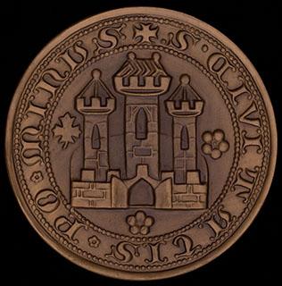 Медаль «Братислава». Томпак. Диаметр 69,8 мм.