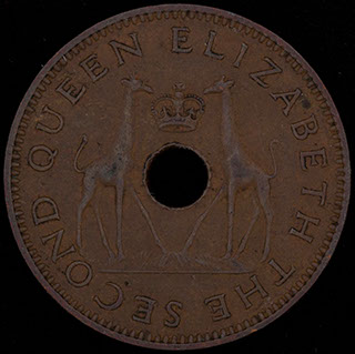 Родезия и Ньясаленд. 1/2 пенни 1958 г. Медь