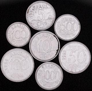 Бразилия. Лот из монет 1992-1994 гг. 7 шт.