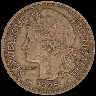 Камерун 1 франк 1925 г. Алюминиевая бронза
