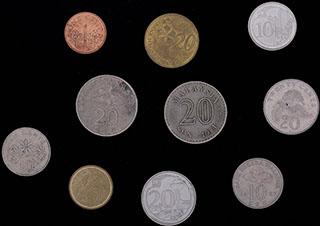 Лот из иностранных монет 1981-2016 гг. 10 шт.