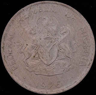 Нигерия. 5 кобо 1976 г. Медно-никелевый сплав