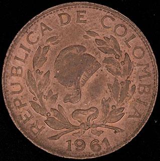 Колумбия. 1 сентаво 1961 г. «150 лет Независимости Колумбии». Медь