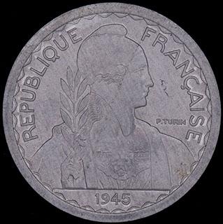 Французский Индокитай. 10 сантимов 1945 г. Алюминий