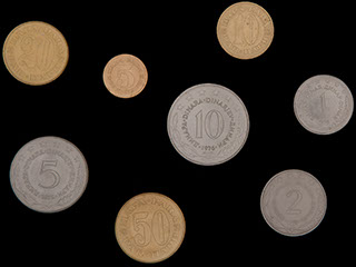 Югославия. Лот из монет 1976-1979 гг. 8 шт.