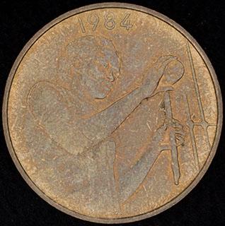 Западная Африка. 25 франков 1984 г. Алюминиевая бронза