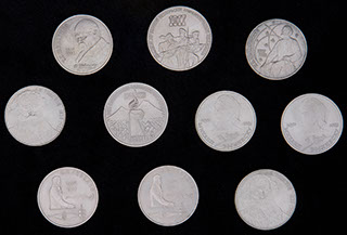 Лот из памятных монет 1987-1991 гг. 10 шт.