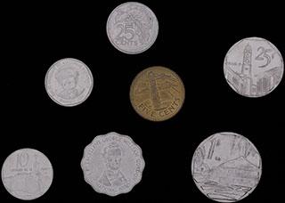 Лот из монет стран Карибского бассейна 1979-2008 гг. 7 шт.