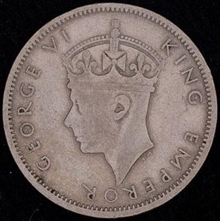 Южная Родезия. 1 шиллинг 1947 г. Медно-никелевый сплав