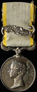 Наградная медаль «Крым» с планкой «SEBASTOPOL»