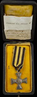 Знак отличия военного ордена Святого Георгия с вензелем Александра I № 2010