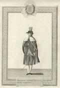 Гравюра «Орденское одеяние Казначея всех Орденов»