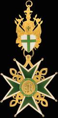 <b><i>Международные ордена.</i></b> Знак рыцарского ордена св. Лазаря Иерусалимского