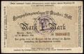 Мюнстер. Лагерь военнопленных Первой мировой войны. Денежный бланк 1 марка 1916 г.