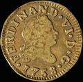 ½ эскудо 1758 г.