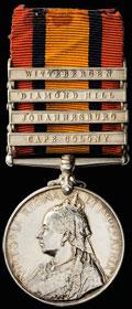 Наградная медаль «Южная Африка» с планками за четыре кампании