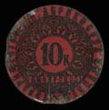 Симферополь. Товарищество А.И. Абрикосова сыновей. Металлическая бона 10 копеек