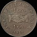 1 доллар  1791 г.