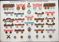 Плакат «Знаки отличия и медали, присвоенные нижним чинам»