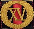 Знак отличия за 15 лет беспорочной службы. На владимирской ленте (для гражданского чиновника)
