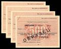 Лот из четырех квитанций Государственного займа развития народного хозяйства СССР (выпуск 1953 г.)