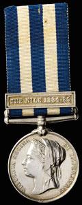 Наградная медаль «Египет» с планкой «The Nile 1884-1885»