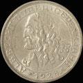 Германия. 3 марки 1928 г.
