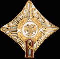 Знак об окончании Владимирского военного училища в Петрограде. Временное Правительство