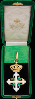 <b><i>Италия. </i></b>Знак командора ордена Святых Маврикия и Лазаря