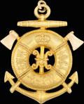 Бальный жетон Морского инженерного училища Императора Николая I в Кронштадте