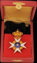 <b><i>Швеция. </i></b>Знак командора ордена Полярной Звезды