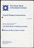 Лот из пяти образцов дорожных чеков Королевского банка Шотландии 1971 г.: