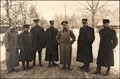 Фотография А.И. Деникина с военными представителями стран Антанты при ставке Верховного главнокомандующего
