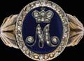 Жалованный бриллиантовый перстень с вензелем императрицы Марии Федоровны (супруги Павла I)